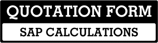SAP Calculations Quote  For Bicester
